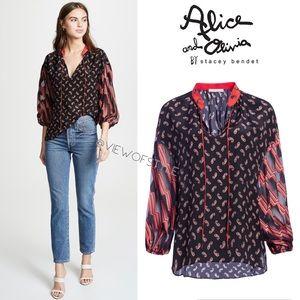 Alice + Olivia Asha Silk Blouse